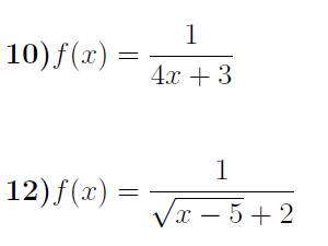 Domain of a function worksheet no 2 (with solutions)