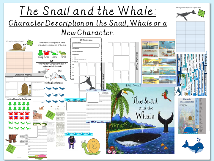 The Snail and the Whale- Character Description: Snail, Whale or a New Character