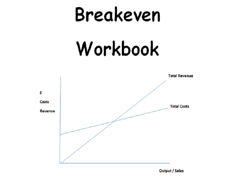 Breakeven Workbook - BTEC First Level 1 / 2 -Unit 2 Finance for Business