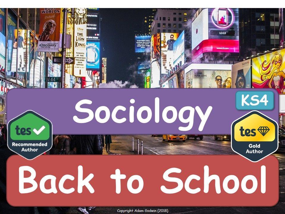 BACK TO SCHOOL! Sociology P4C - Sociology! [P4C]  BACK TO SCHOOL!
