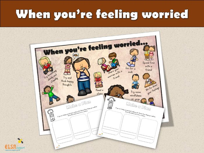 ELSA SUPPORT - When you are feeling worried, PSHE, EMOTIONS, ANXIETY, WORRIES,  EMOTIONS