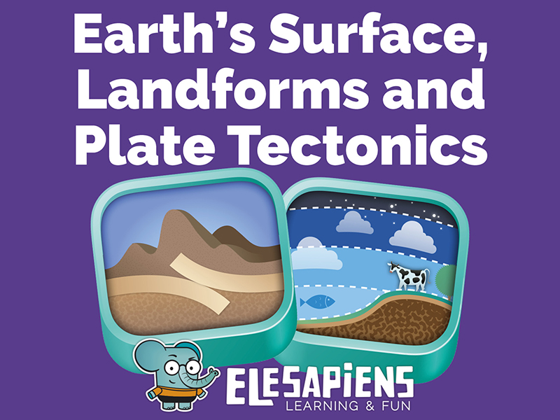 Earth's surface, landforms & plate tectonics unit