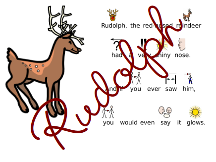 graphic about Words to Rudolph the Red Nosed Reindeer Printable named Rudolph the Purple Nosed Reindeer- (symbolised)