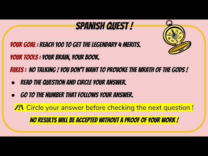 Activity revision Spanish (adaptable)