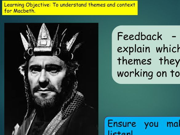 Macbeth Themes and Context GCSE Revision