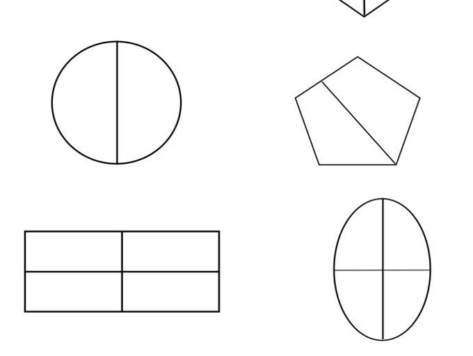Y2 SATS REVISION -SHADING 1/2, 1/4, 3/4 AND 1/3 OF SHAPES (INCLUDING EQUIVALENT FRACTIONS)