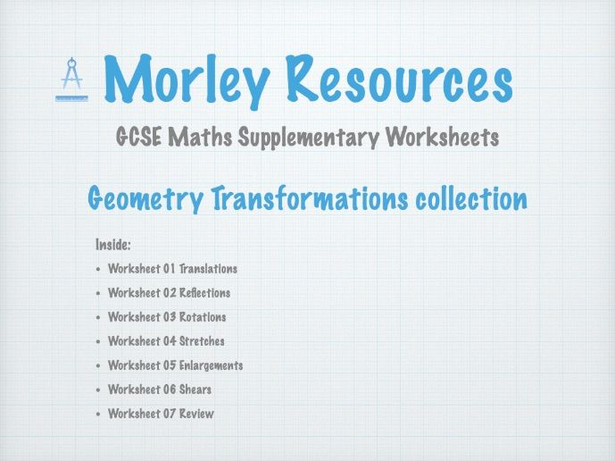 Geometry Transformations 01 GCSE Maths Collection