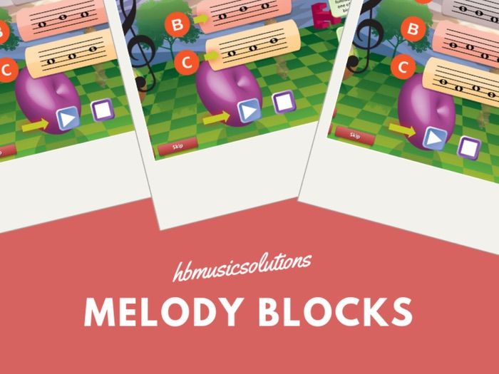 Melody Blocks In C Units 1 - 10 Music Interactive Activity