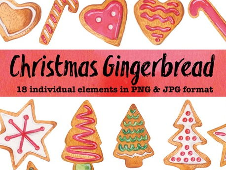 Christmas clipart - gingerbread
