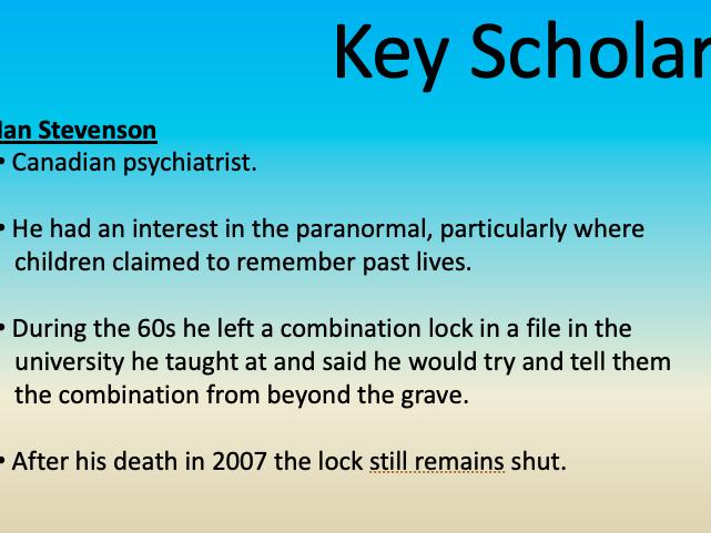 Reincarnation and Near Death Experiences