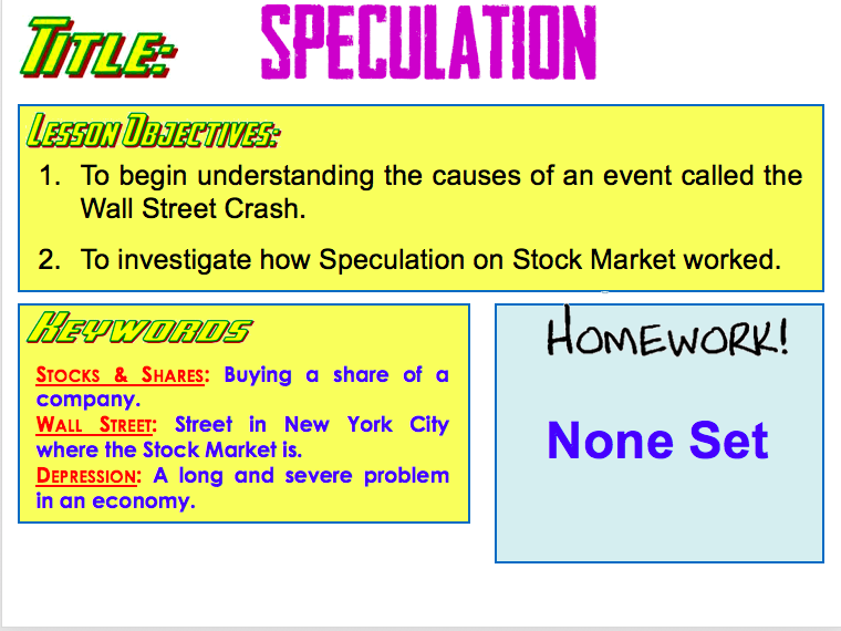 Introduction to the Wall Street Crash 9-1