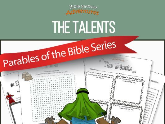 Parable of the Talents workbook FREEBIE