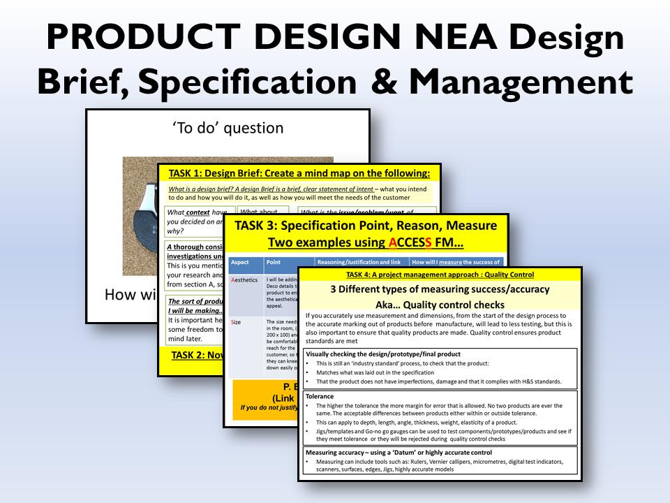 2021 AQA Product design NEA Brief & Spec