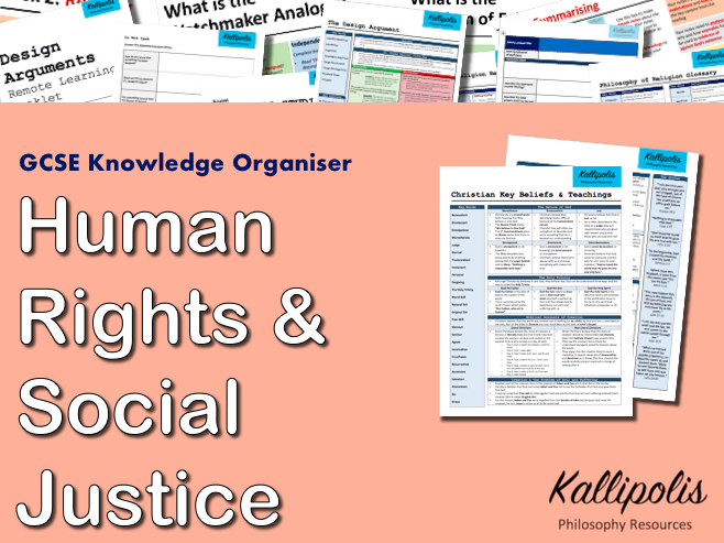 Human Rights & Social Justice - GCSE Religious Studies (RS) Knowledge Organiser
