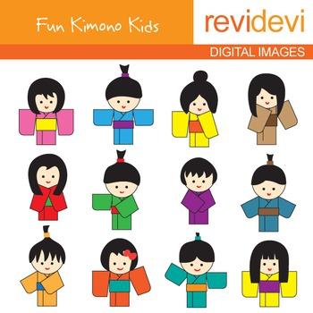 Free clipart - Kimono Kids