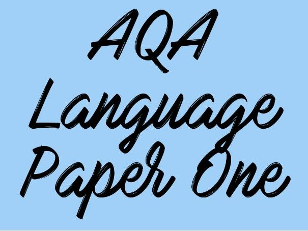 English Language Paper One Scheme