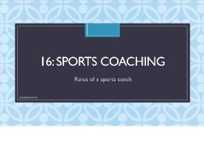 BTEC Sports Coaching (Full unit with PowerPoint, worksheets & Unit Plan)