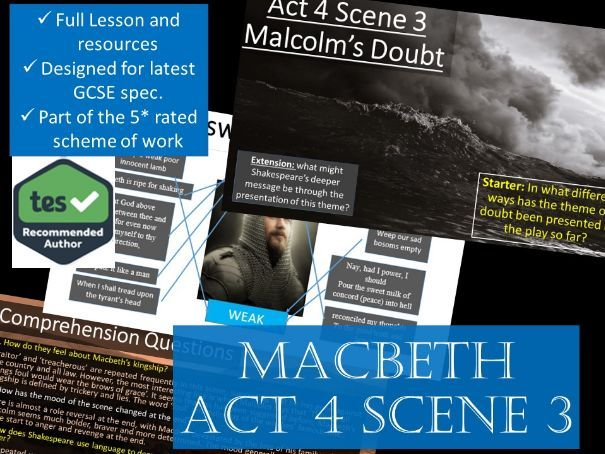 Act 4 Scene 3 Macbeth GCSE English Literature 9-1