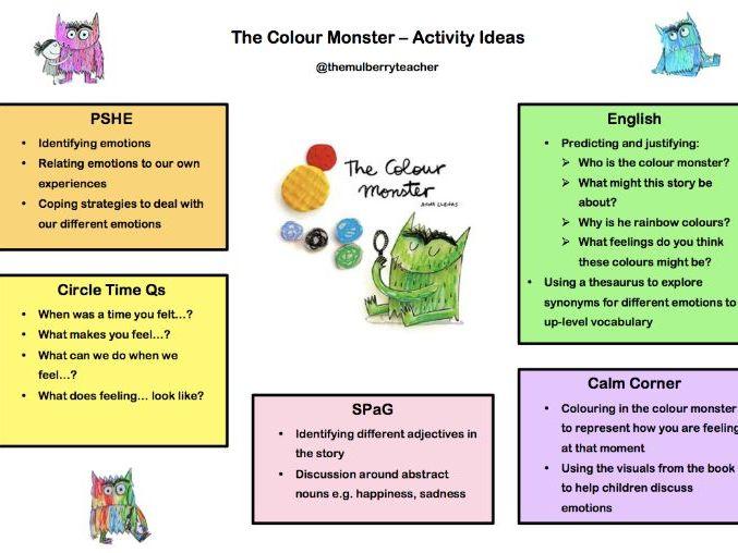 The Colour Monster - Activity Ideas