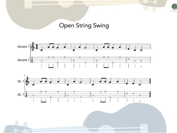Ukulele Group - Open String Swing sheet music and teaching resources