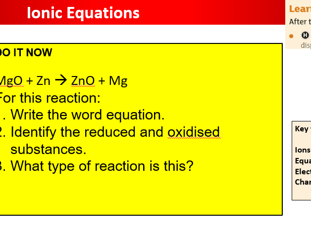 AQA Ionic Equations