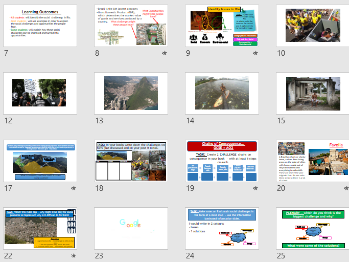 AQA URBAN CASE STUDY: Rio - Social Challenges (Lesson and Resources).