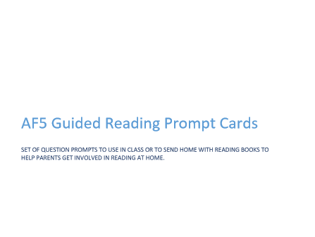 AF5 Guided Reading Prompt Fan