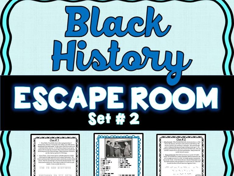 Black History Month Escape Room #2- No Prep!