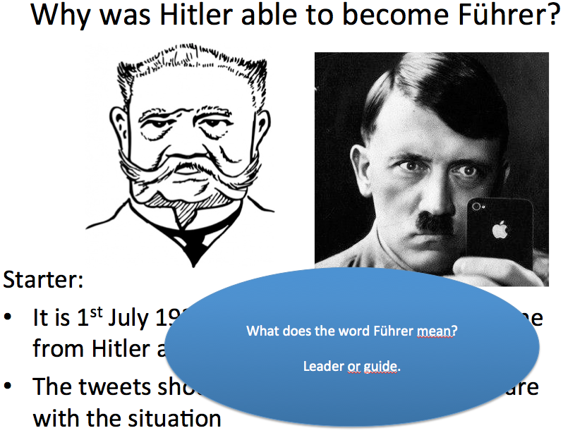 The Rise of Hitler and the Nazis - Lesson 12 why was Hitler able to become Führer