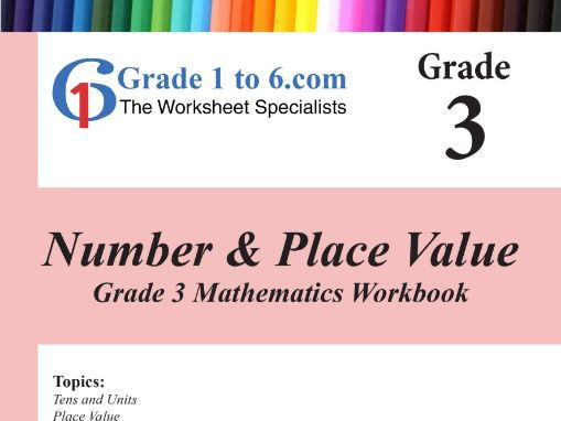 Number & Place Value: Grade 3 Maths Workbook from www.Grade1to6.com Books