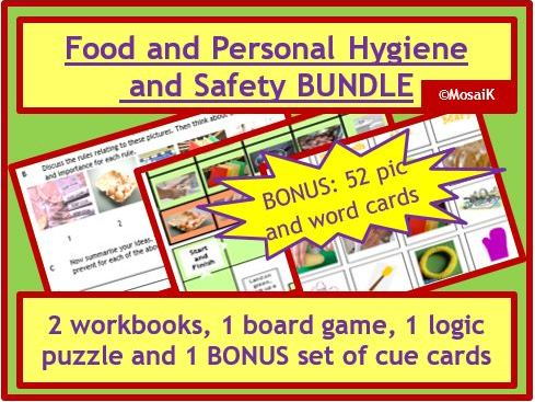Food Tech: Hygiene and Safety - my 4 published resources + Bonus set of 52 cue cards