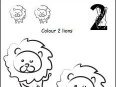 Colour and Count Animals to 10