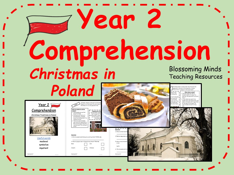 Year 2 non-fiction comprehension - Christmas in Poland