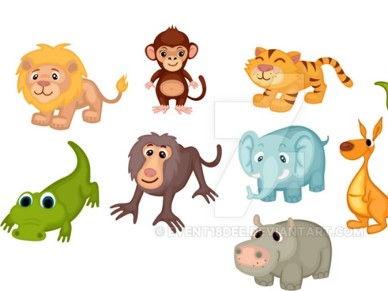 Les animaux et les couleurs.