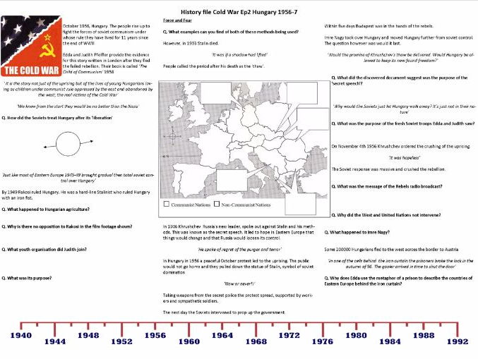 BBC History File - The Cold War - Supporting Worksheets Ep. 2,3,4 & 5