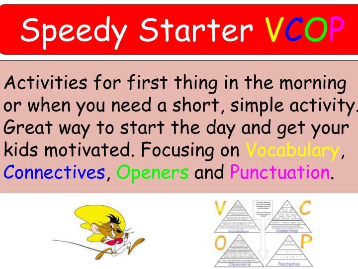 KS2 VCOP Speedy Starter Activities