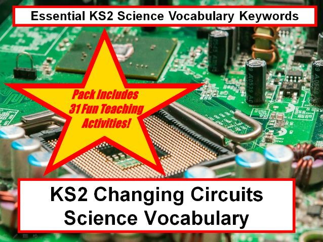 KS2 Changing Circuits Science Vocabulary + Flashcards+31 Fun Teaching Activities To Try In Classroom