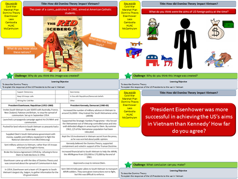 AQA Conflict and Tension in Asia: Vietnam L3 - How did the Domino Theory impact Vietnam