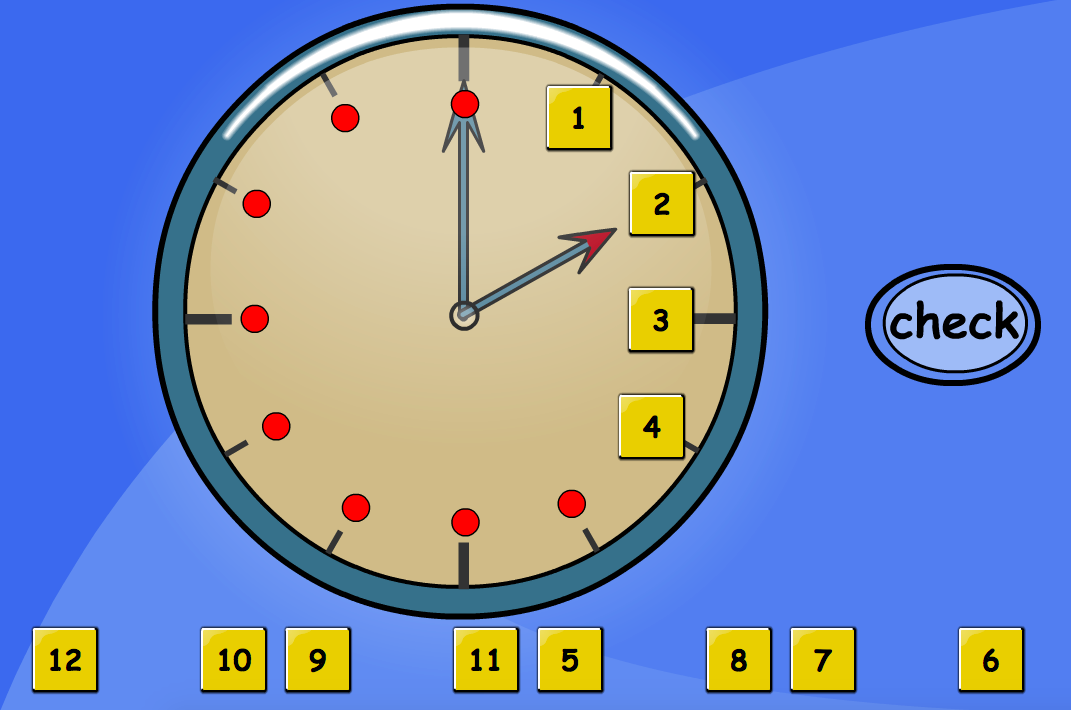 Fill the Digits on the Clock - Interactive Activity - KS1 Measurement