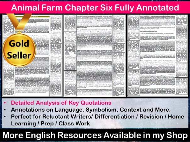 Animal Farm Chapter 6 Fully Annotated