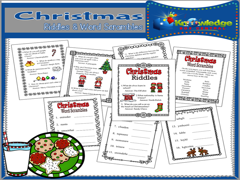 Christmas Riddles & Word Scrambles