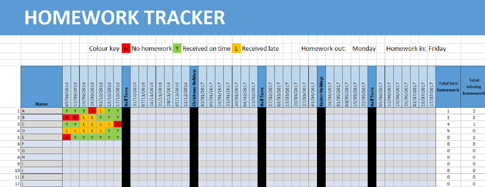 Automatic Homework Tracker
