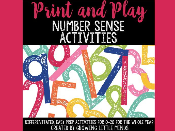 Number Sense Activities Bundle:  Print and Play