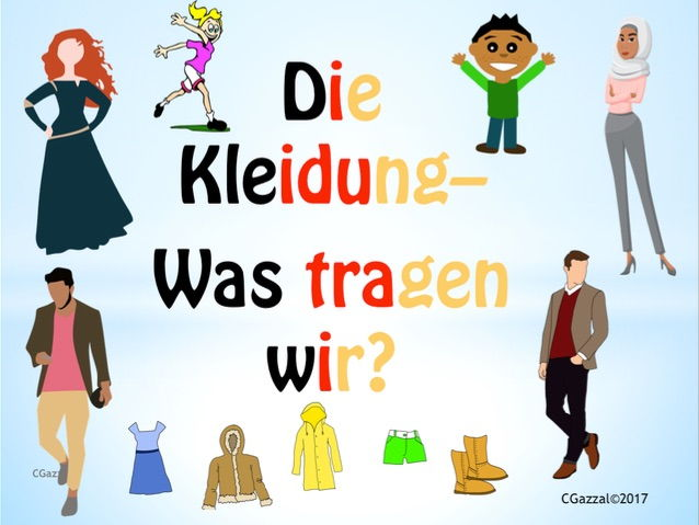 Clothes in German and Colour Adjectives - A Complete Guide.