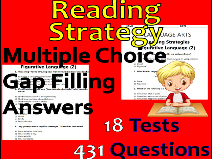 Reading Strategies Bundle | ELA Test Preparation | NO PREP | 18 Worksheets
