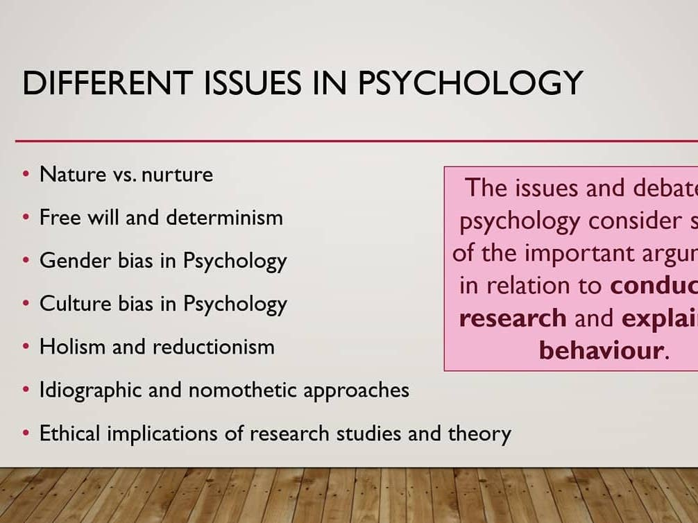 Introduction to Issues and Debates AQA A level Psychology