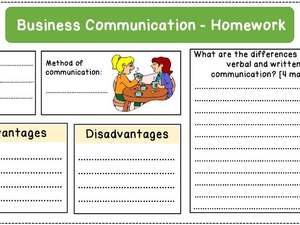 Business Communication Homework