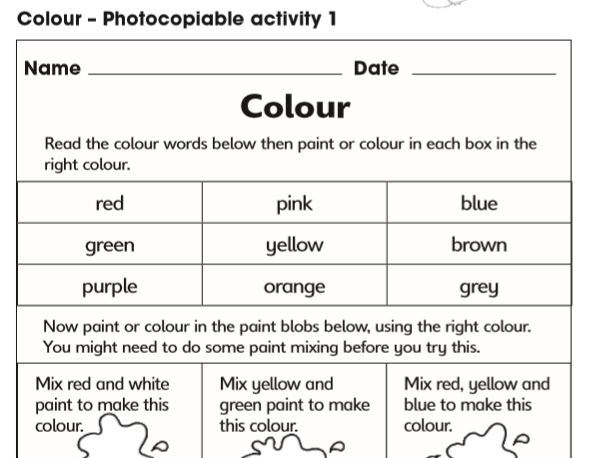 Year 1 Phase 5 Phonics: Colour Topic. Series of Lessons With Texts and Resources.