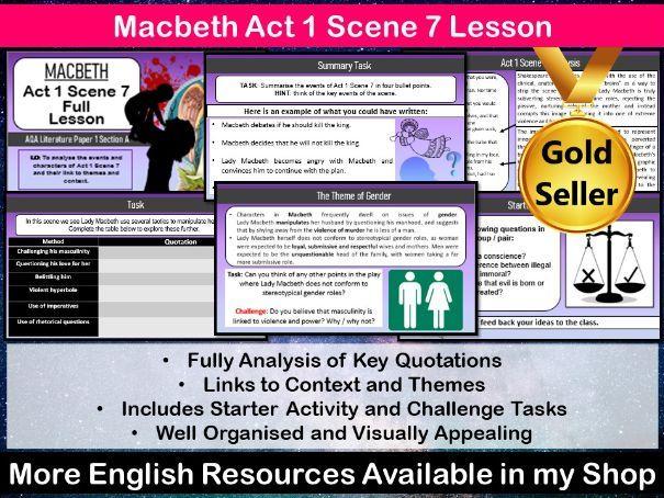 Macbeth Act 1 Scene 7 Lesson