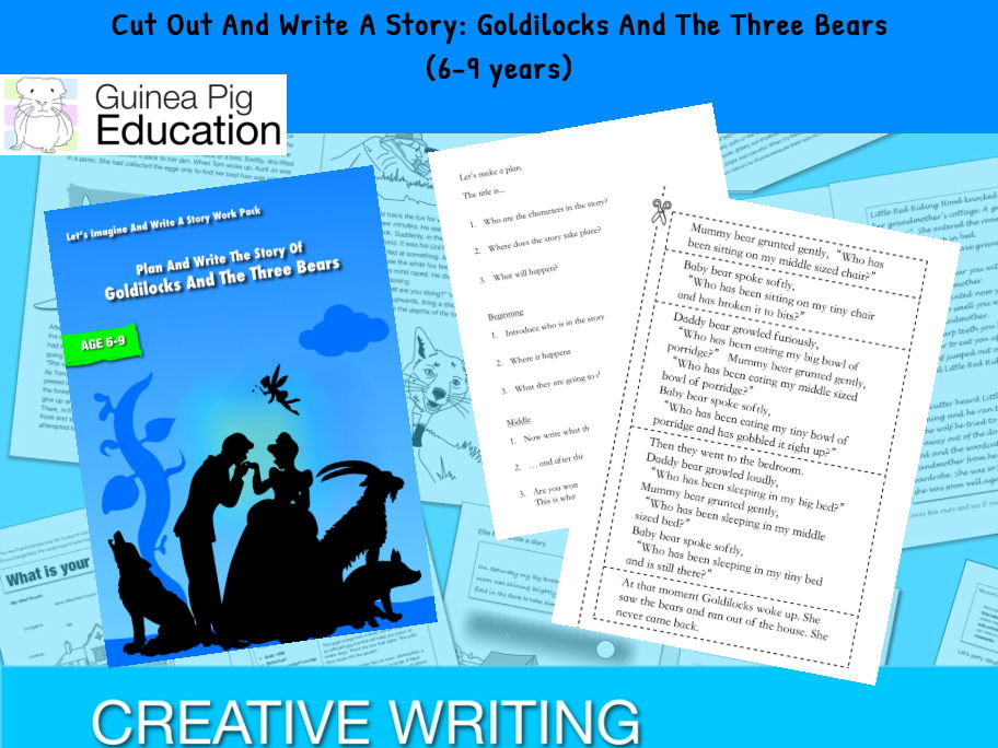 Cut Out And Write A Story: Goldilocks And The Three Bears (Let's Imagine And Write A Story)